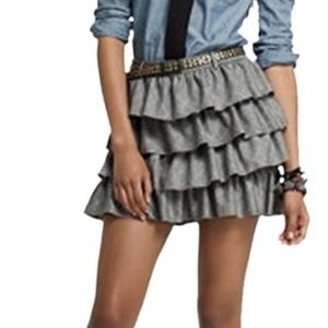 J. Crew wool tiered ruffle mini skirt